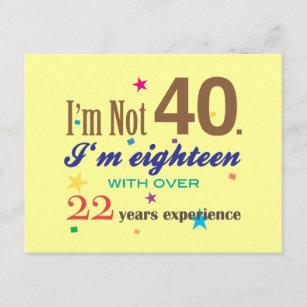 cartes anniversaire 40 ans