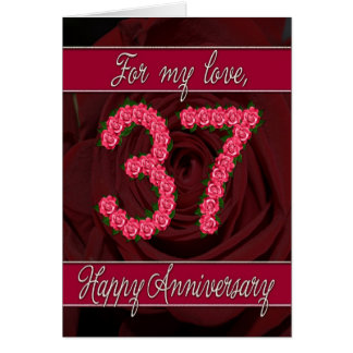 37th Wedding Anniversary Cards, Invitations, Photocards & More