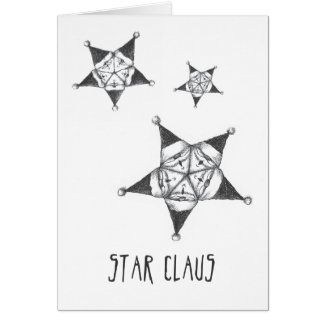 Star Claus Christmas Card