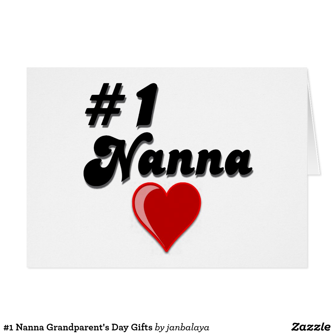 #1 Nanna Grandparent's Day Gifts Card