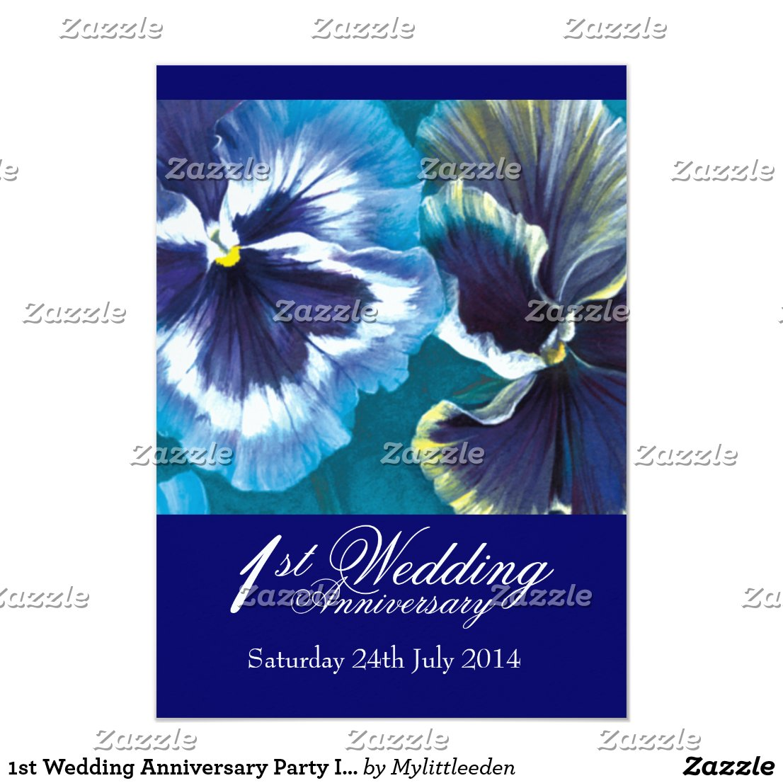 1st Wedding Anniversary Party Invitation