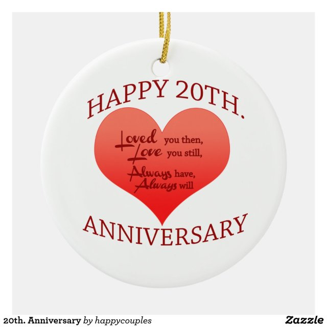 20th. Anniversary
