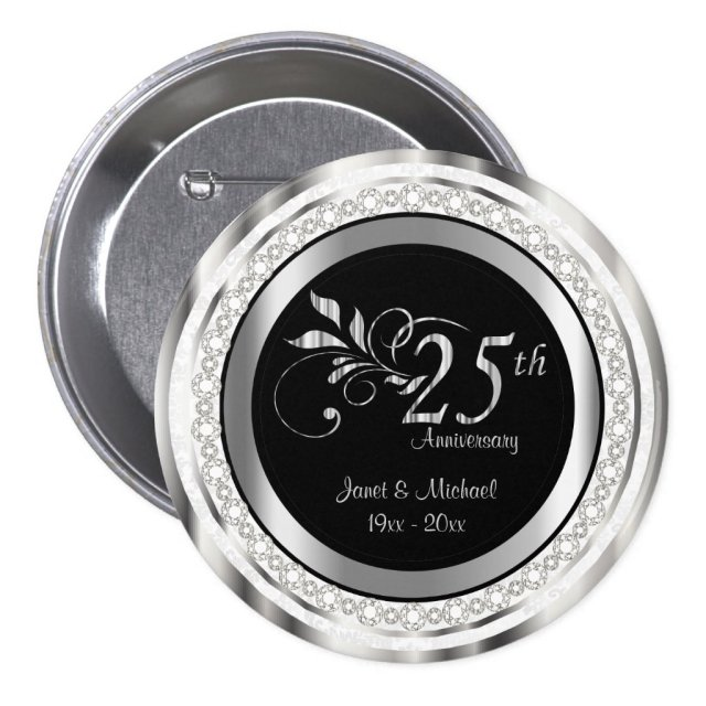 25th Silver Wedding Anniversary | DIY Text