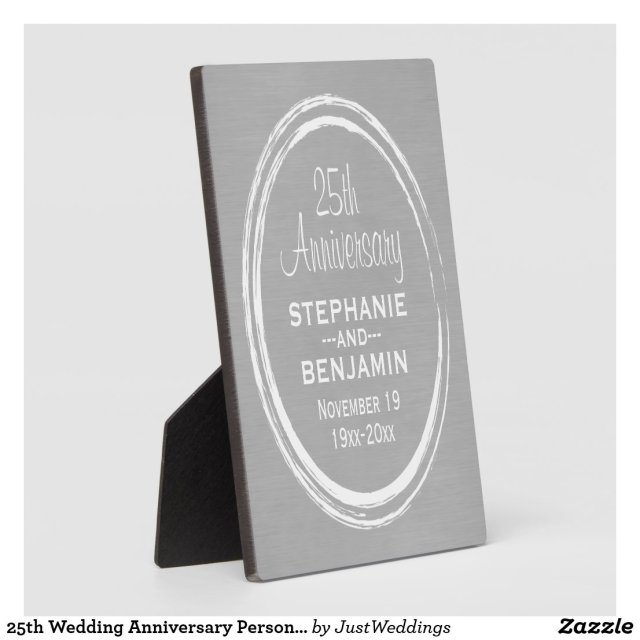 25th Wedding Anniversary Personalised Plaque