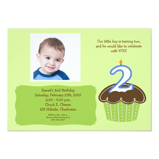 birthday invitation card for 2 year old boy