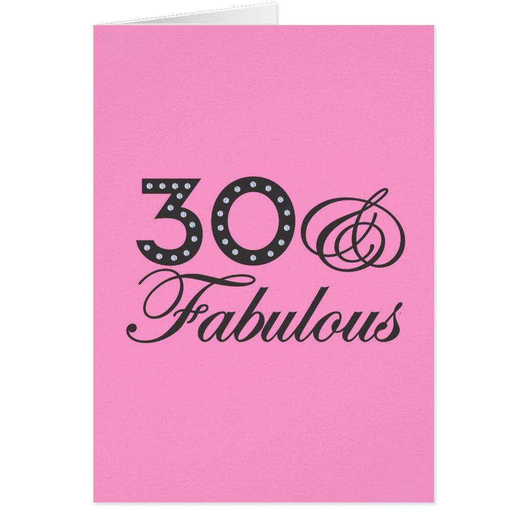 30 & Fabulous Card