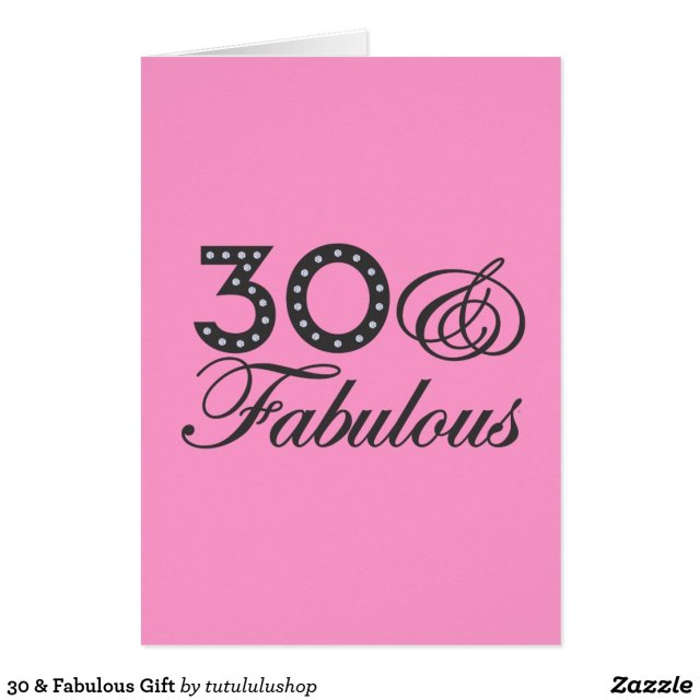 30 & Fabulous Gift