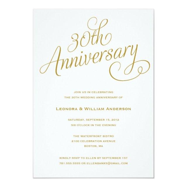 30TH | WEDDING ANNIVERSARY INVITATIONS
