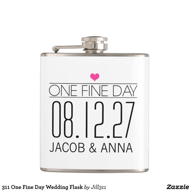 311 One Fine Day Wedding Flask