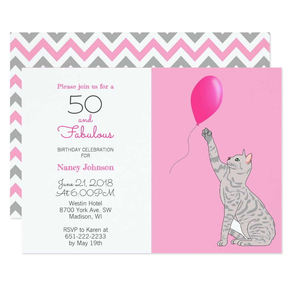 50 And Fabulous 50th Birthday Invitation
