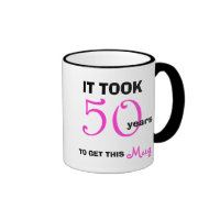 50th Birthday Women Mug