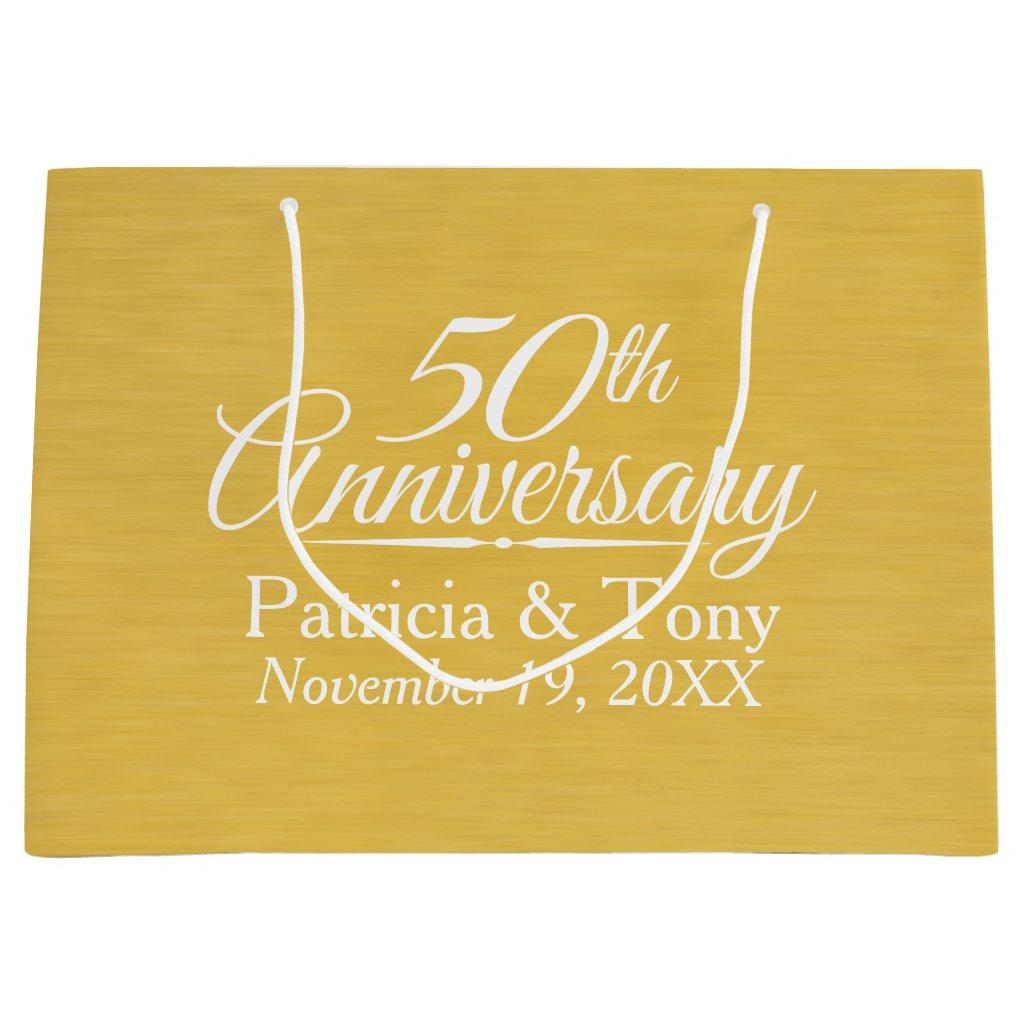 50th Wedding Anniversary Gift Bag