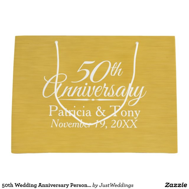 50th Wedding Anniversary Personalised Golden