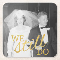50th Wedding Anniversary Paper Coaster