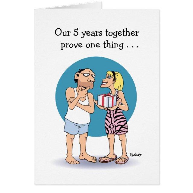 5th Anniversary Card: Love Card