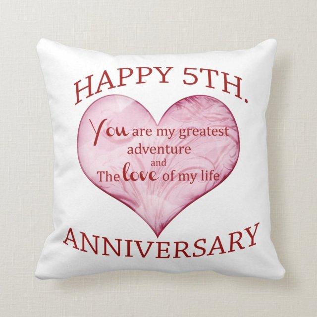 5th. Anniversary Cushion