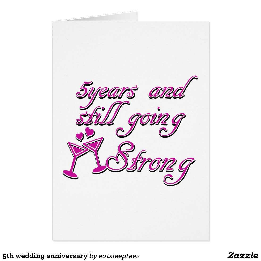 5th wedding anniversary card