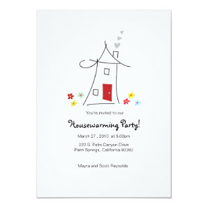 5x7 Whimsical Housewarming Party Invitation