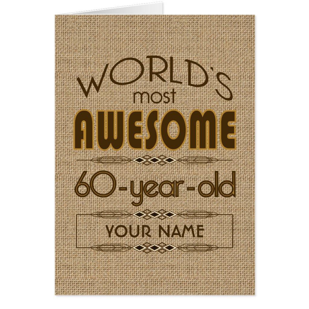 60th Birthday Celebration World Best Fabulous Card