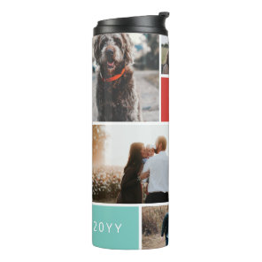 6 Photo Collage Thermal Tumbler