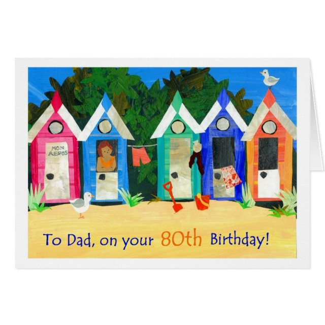 80th Birthday Card for a Father