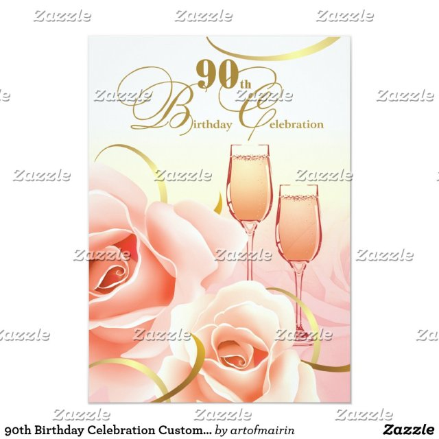 90th Birthday Celebration Invitations