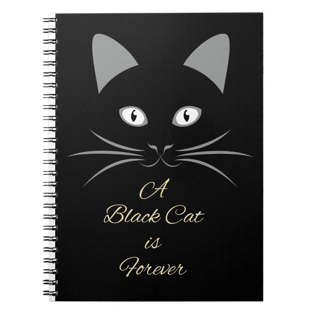 A Black Cat is Forever Notebook