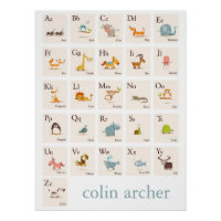 ABC Animal Nursery Print