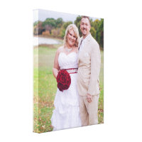 Wedding Photo Wrapped Canvas Print