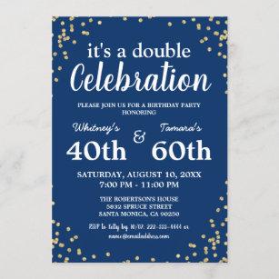 double birthday invitations zazzle uk