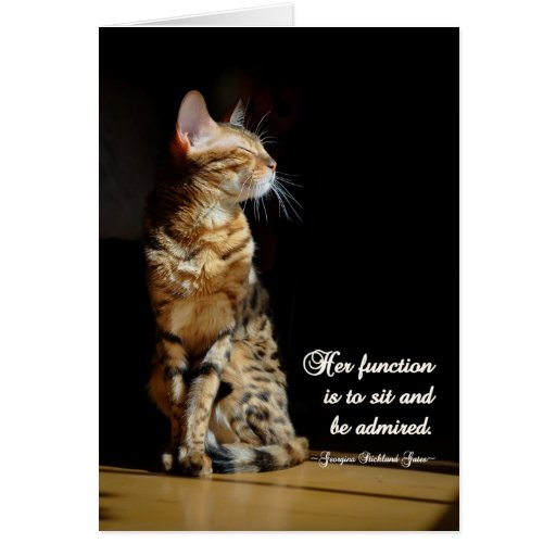 All Purpose Bengal Cat Greeting Card Zazzle