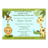 Animal SAFARI PARTY baby shower invitation