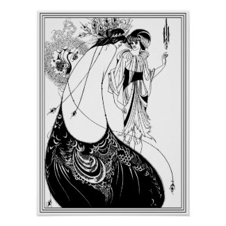 Aubrey Beardsley - The Peacock Skirt Poster