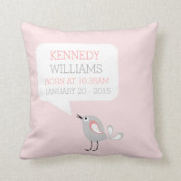 Baby Birth Keepsake Custom Pillow