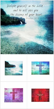 Bible Verse with Art on Canvas