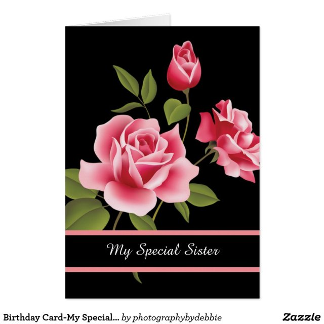 My Special Sister Birthday Card