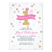 Birthday Party | First Birthday Princess Card