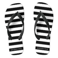 Striped Pattern Flip Flops