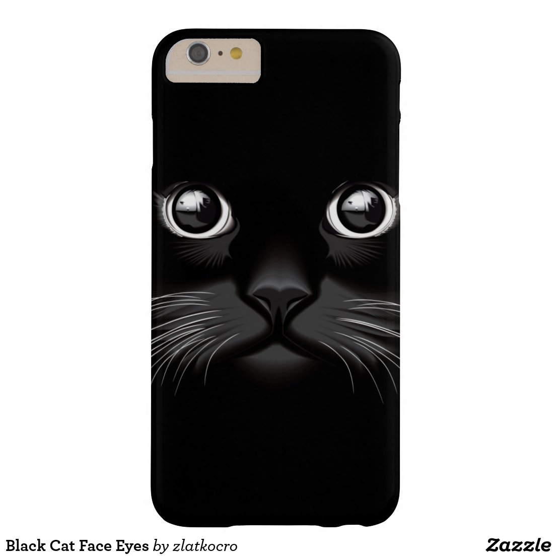 Black Cat Face Eyes iPhone Case