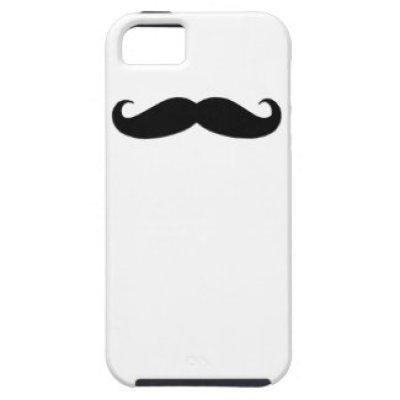 Black Moustache iPhone 5 Case-Mate Case