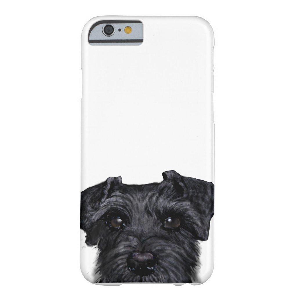 Black schnauzer iPhone Case