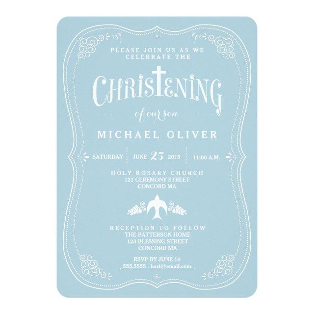 Blessings for Baby Boy Christening Invitation