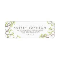 Blissful Branches Wedding Return Address Label