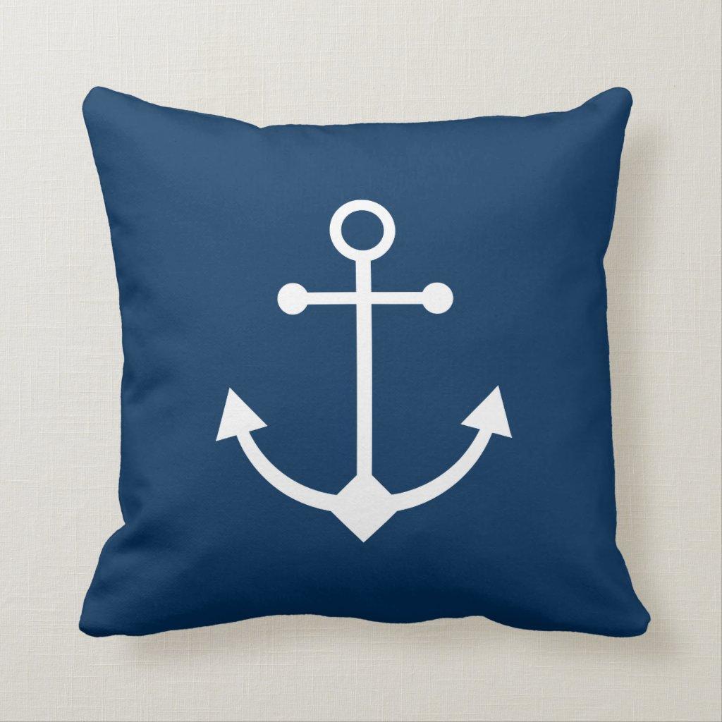 Blue anchor cushion