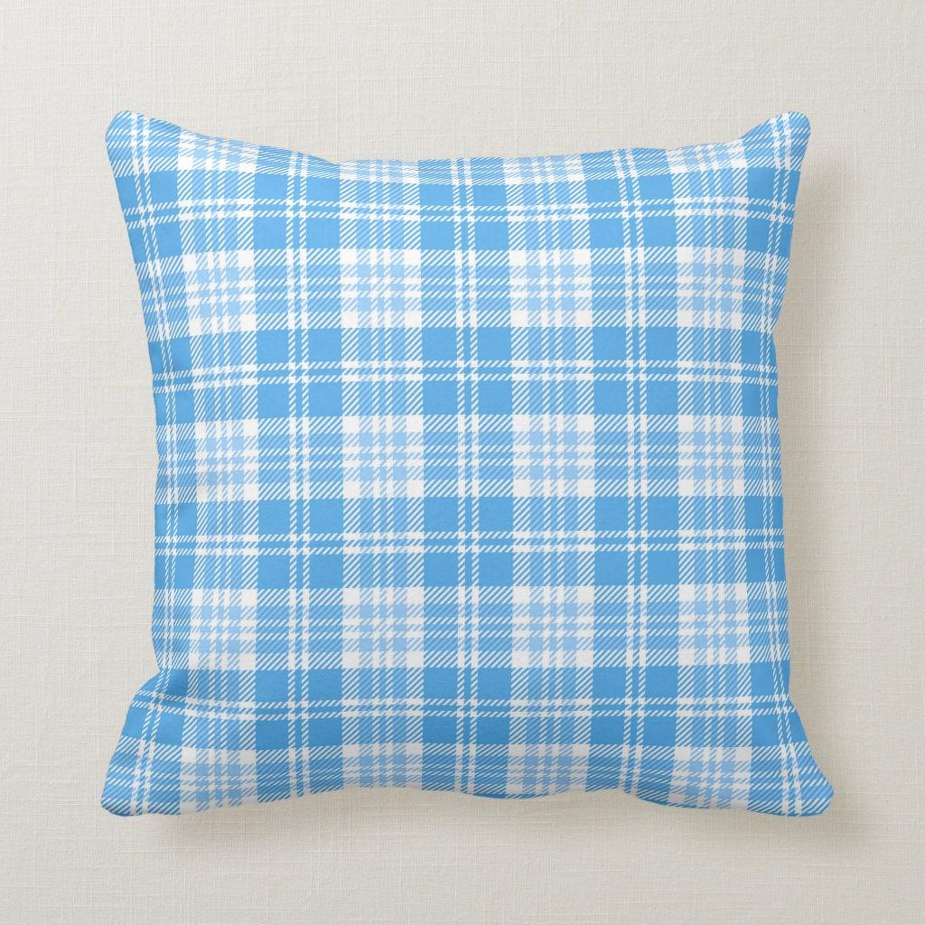Blue and white tartan
