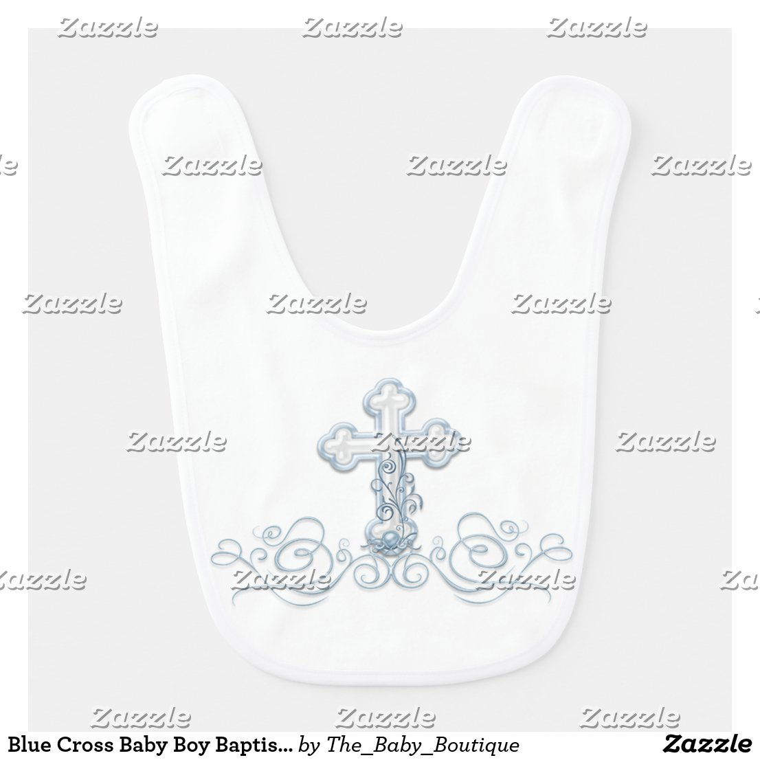 Blue Cross Baby Boy Baptism Christening Bibs