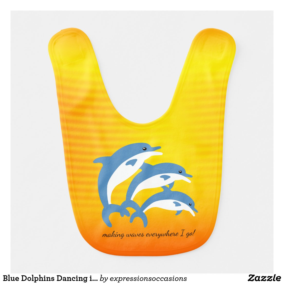 Blue Dolphins Dancing in the Tropical Sun Bib