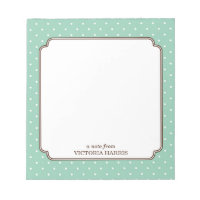 Polka dot Personalized Notepad