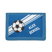 Blue Soccer Sporty Sport Stripes Boys Wallet