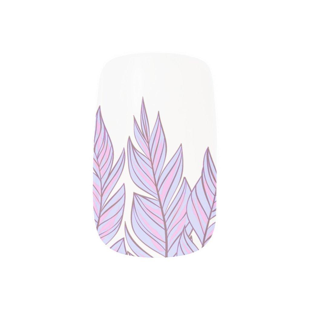 Bohemian Dreamcatcher Pink Purple Feathers Nail Art